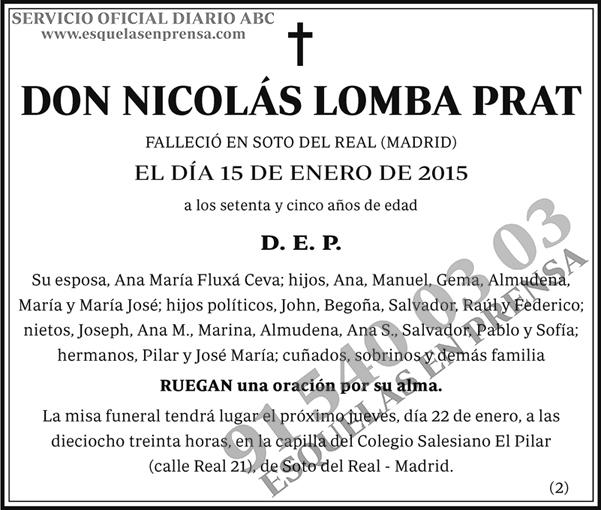 Nicolás Lomba Prat